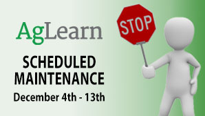 AgLearn Scheduled Maintenance December 4th to 13th