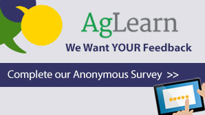 AgLearn - We want your feedback - complete our anonymous survey